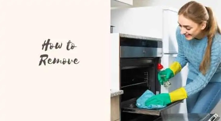 how to remove melted plastic from oven
