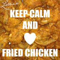 Keep Calm Love Fried Chicken