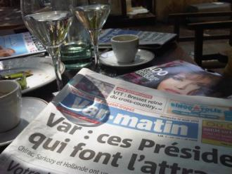 Le Var Matin... the local newspaper of Saint-Tropez....