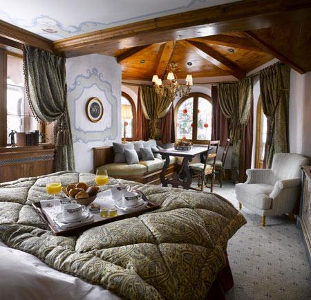 "A Suite at ""Les Airelles"" hotel in Courchevel..."
