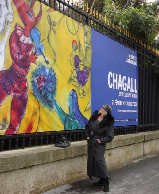 Chagall exhibition at the Musée du Luxembourg...