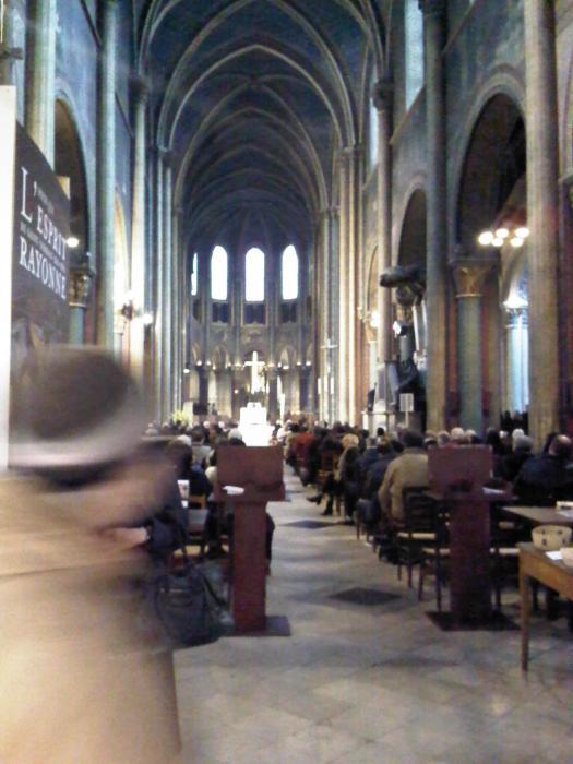 Inside the Church de Saint-Germain-des-Près...