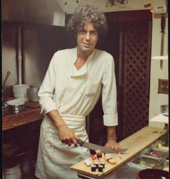 A devastatingly handsome young... Anthony Bourdain...