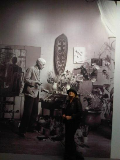 Braque in his atelier...