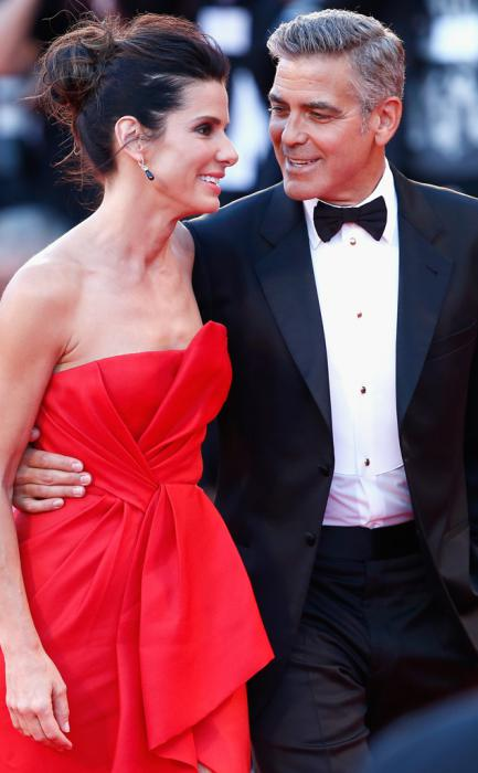 George Clooney and Sandra Bullock at the Venice Film Festival...