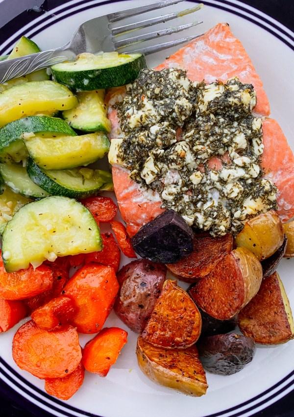 Feta & Dill Crusted Salmon