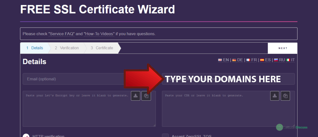 Image of the Free SSL Certificate Wizard