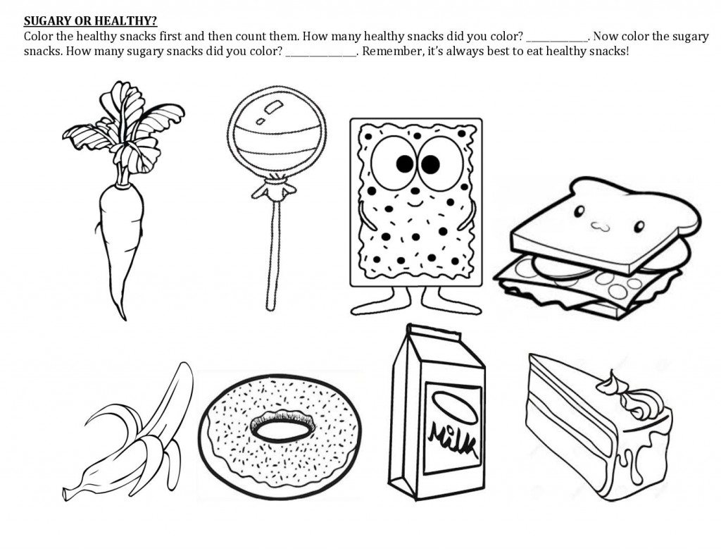 Worksheet Preschool Snack Healthy Worksheet Best Free