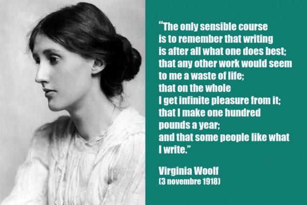 Citazione sulla scrittura tratta dai diari di Virginia Woolf