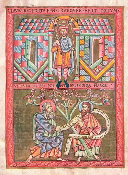 Praga: codice di Vyšehrad, albero di Iesse
