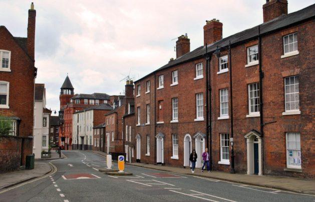Shrewsbury, Inghilterra: strada