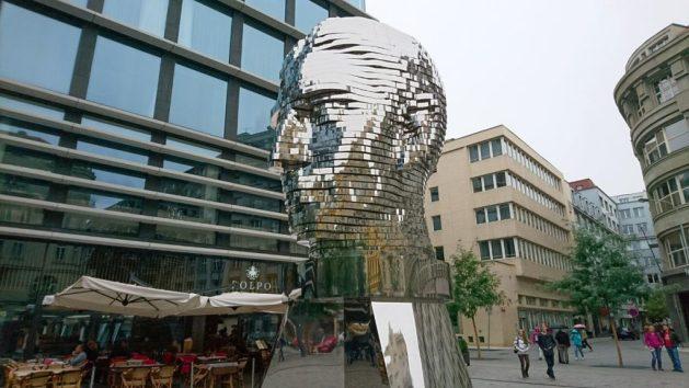 Praga, scultura dedicata a Kafka