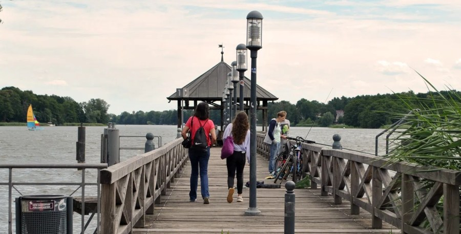 Neuruppin, lago, pontile