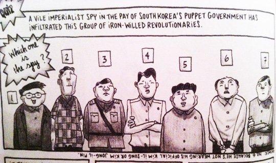 """Trova la spia imperialista! """"Pyongyang"""", Guy Delisle"""