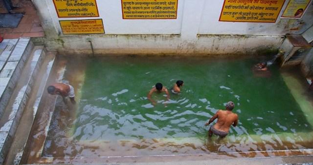 The hot water spring at Gaurikund, Kedarnath.