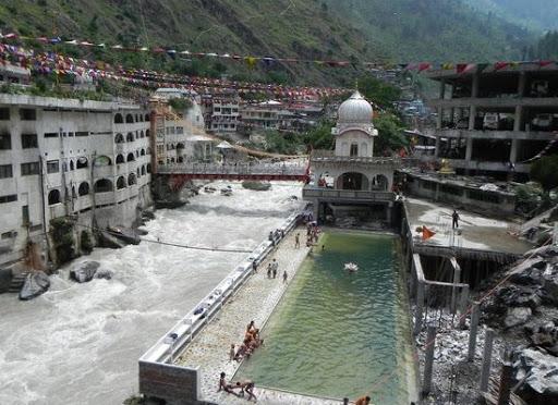The hot water spring at manikaran, Himachal Pradesh..