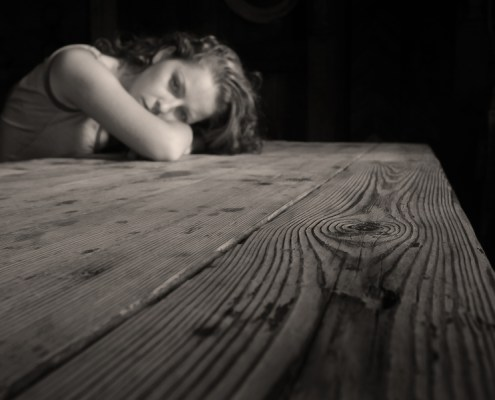 Picture of woman feeling depressed but nothing is wrong