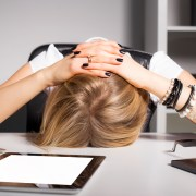 woman overwhelmed to calm