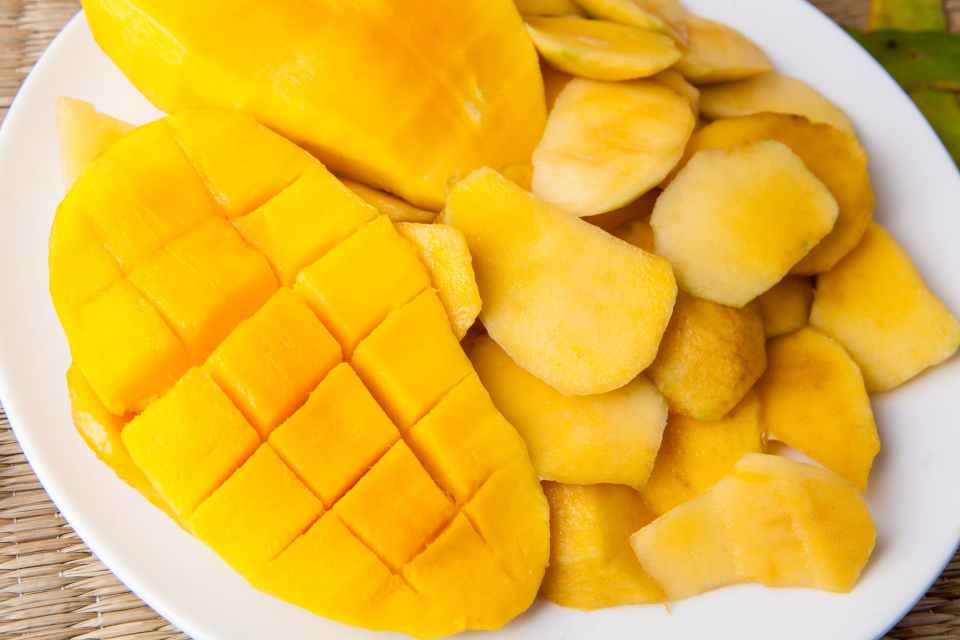Mango Sorbet Recipe   Easy to make and only 2 ingredients. Fresh or frozen mango