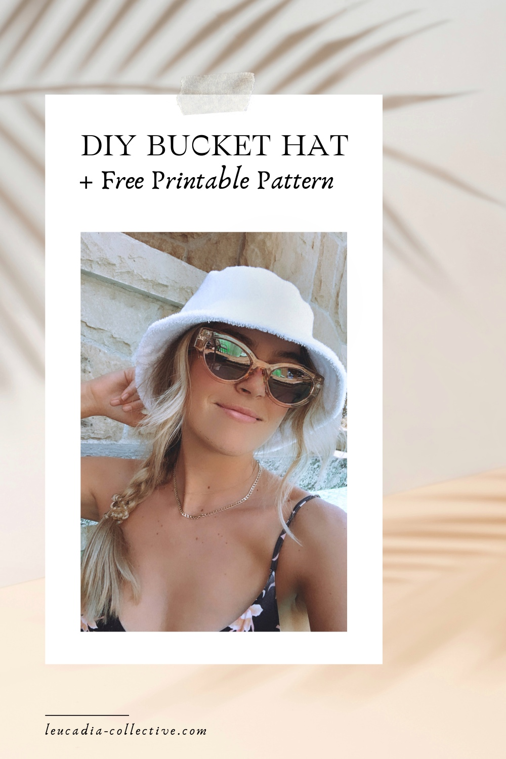 Free Bucket Hat Pattern and Sewing Tutorial - Terry Cloth Bucket hat | Lack of Color Bucket Hat Dupe. Sewing projects for beginners