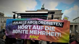 22.10.2017 Demo Gegen Hass und Rassismus im Bundestag in Berlin