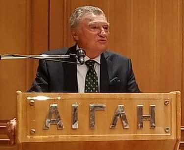 Ο Αναπληρωτής Γεν. Γραμματέας του Ο.Η.Ε. κ. Σωτήριος Μουσούρης ατην Αίγλη Ζαππείου.
