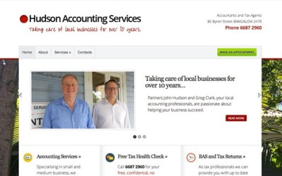 New Website & Branding: Hudson Accounting Services