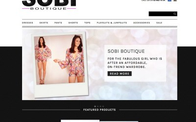 New online store and branding: SOBI Boutique Lismore