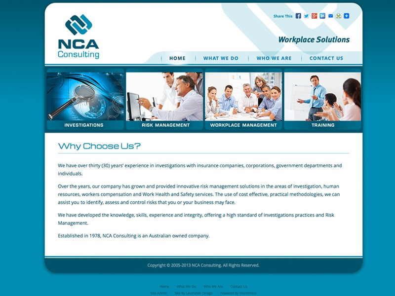 NCA Consulting (WordPress version)