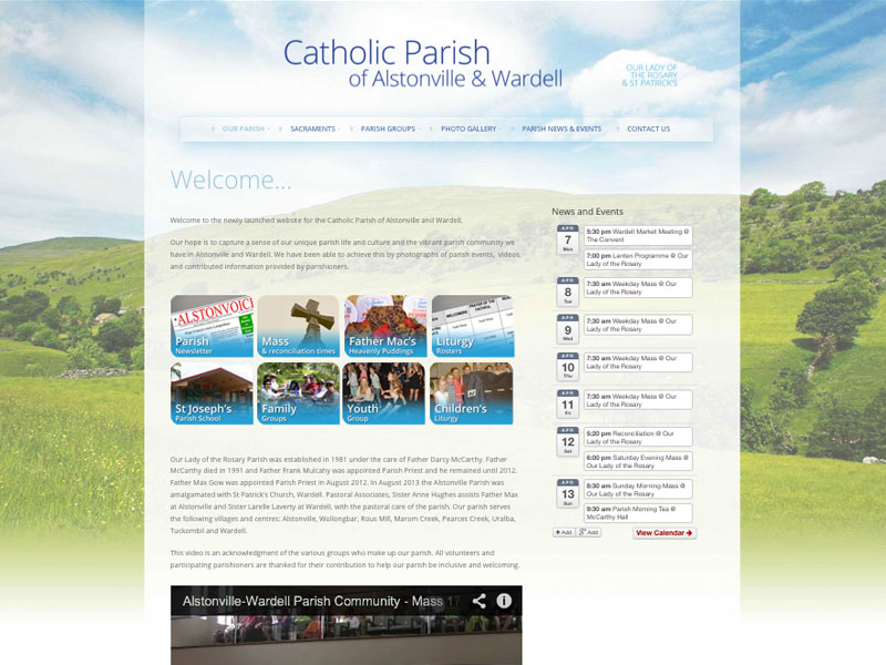 Alstonville Catholic Parish website 2014