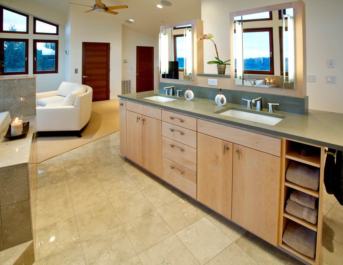 Northwest-Contemporary bathroom vanity