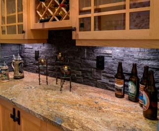 Craftsman backsplash and countertop