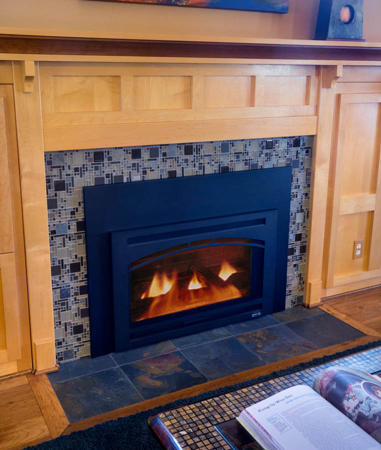 Craftsman fireplace remodel