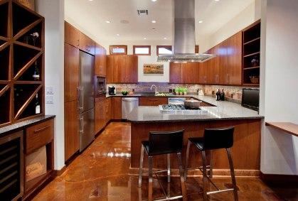 NW-Contemporary kitchen bar nook
