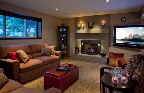 Transitional living room remodel