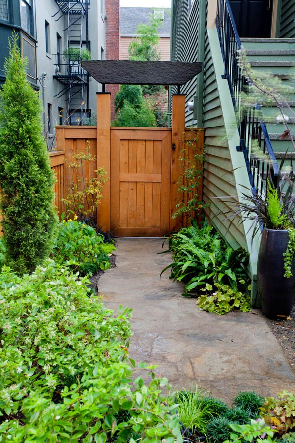 Contemporary-Asian gated archway