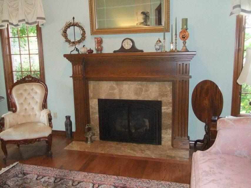 Colonial remodeled fireplace
