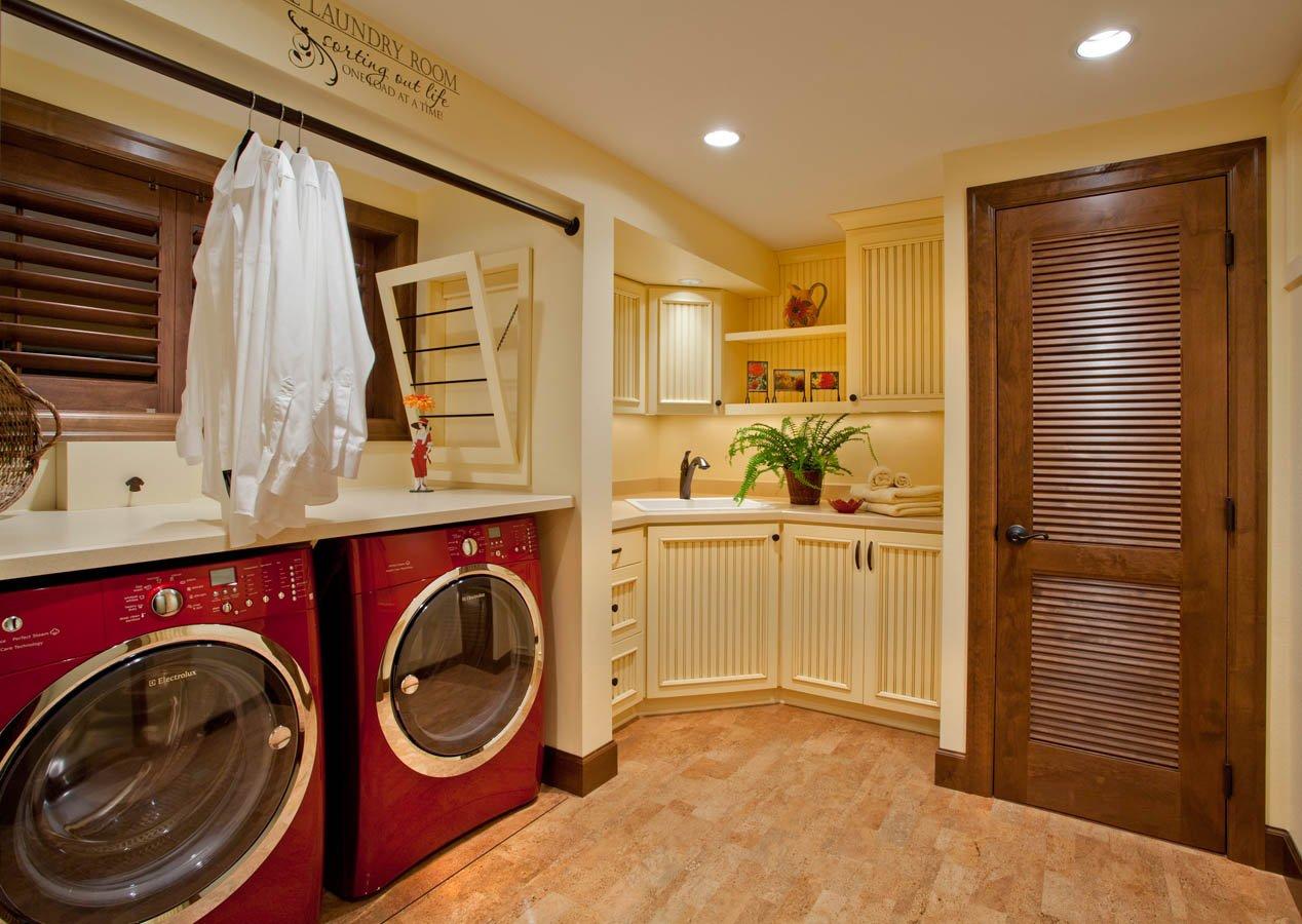 Traditional-Italian laundry room remodel