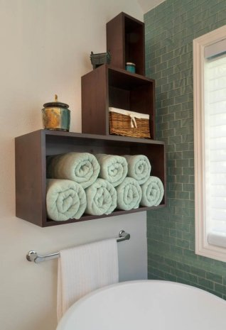 Modern-Transitional towel rack
