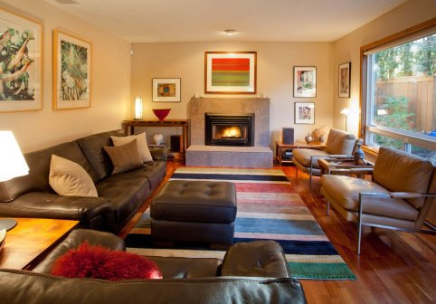 Contemporary living room layout