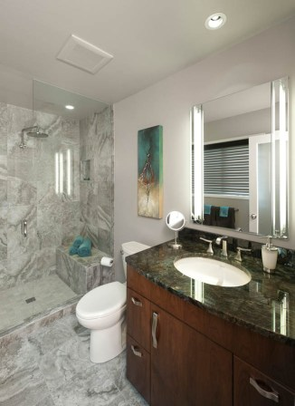 Transitional bathroom remodel