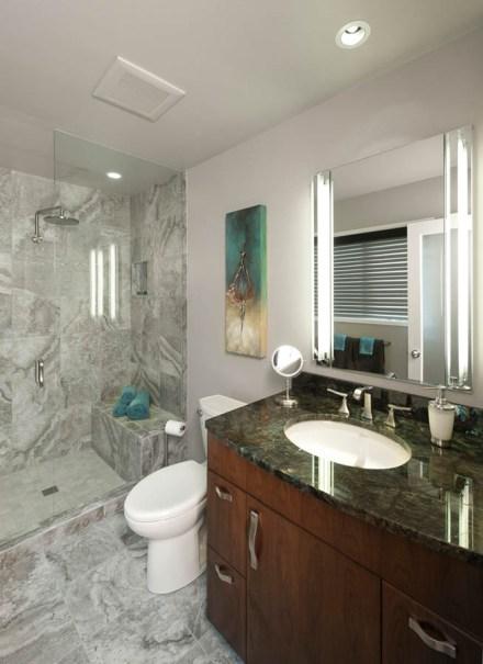 Transitional bathroom remodel