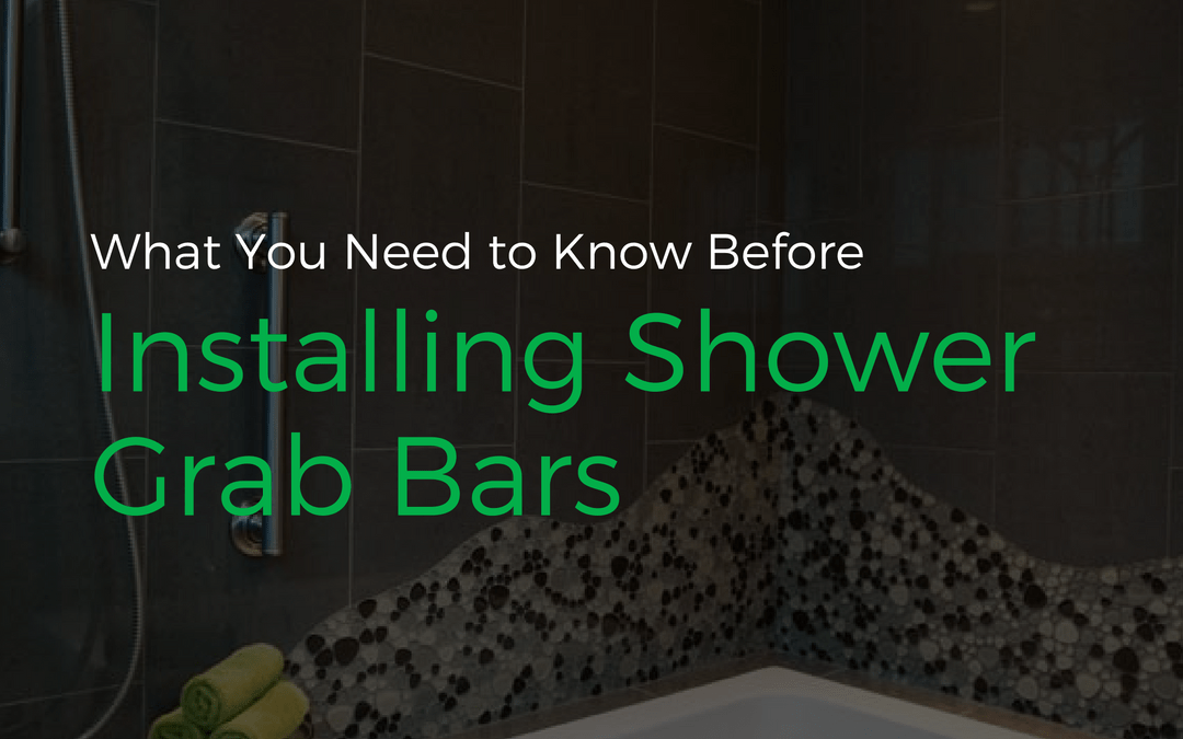 Shower Grab Bars That Are Both Functional And Stylish