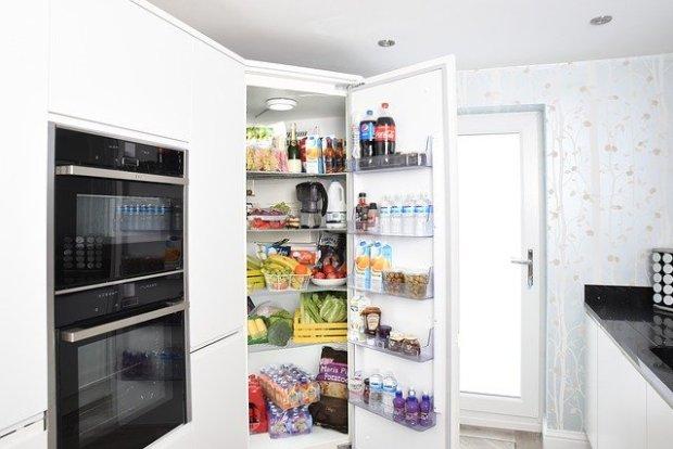 Custom corner fridge