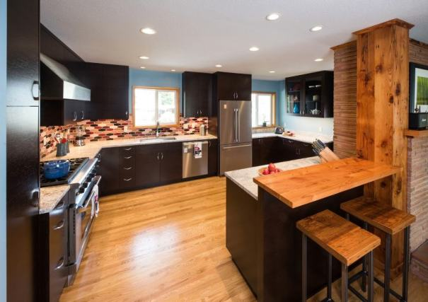 Modern kitchen remodel with counter space