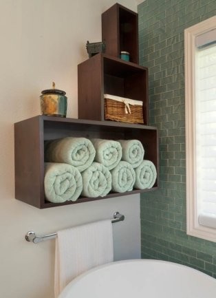 Modern Transitional Bathroom Shelf