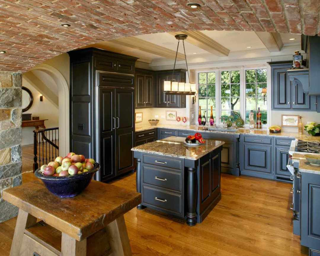 Brick Ceiling in Home Kitchen Remodel