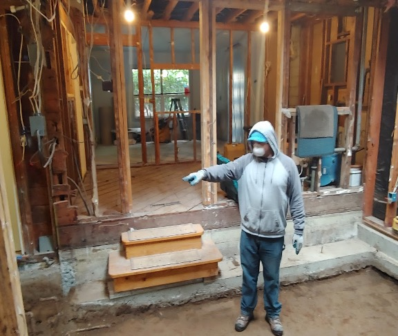 Wearing gloves, N95 masks, or full body protection is always an integral part of the remodeling protocol.