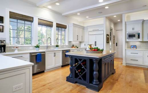 modern traditional kitchen remodel with island