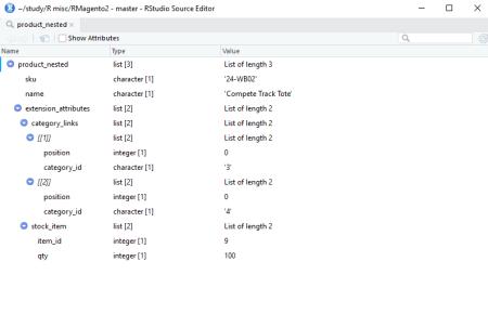 Nested product - Rstudio screenshot
